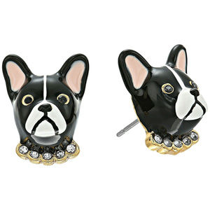 KATE SPADE Antoine French Bulldog Stud Earrings
